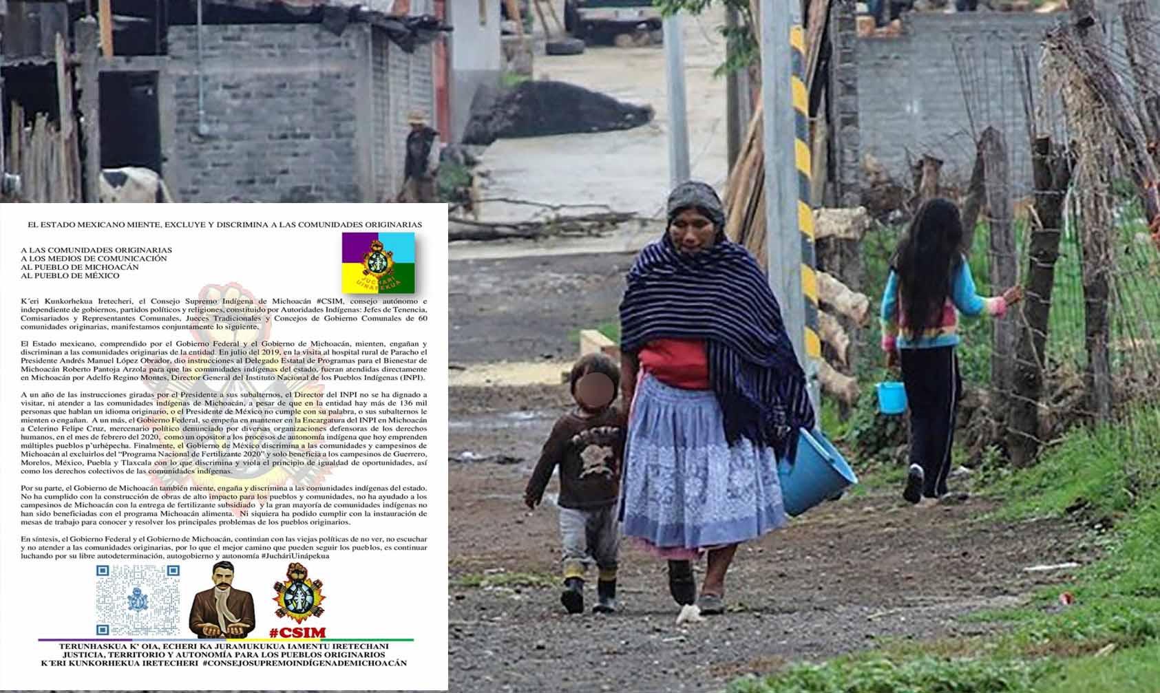 Consejo Indígena De Michoacán Acusa Discriminación Y Engaño De AMLO Y Silvano