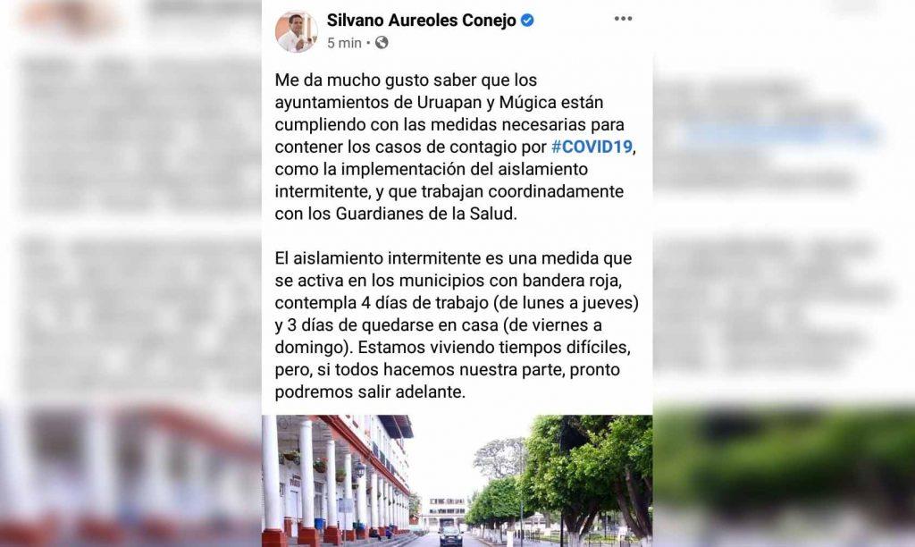 Photo of Silvano Celebra Que Nueva Italia Y Uruapan Acaten Medidas Sanitarias