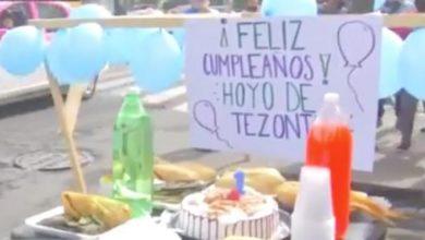 #CDMX Le Celebran Su 1er Cumpleaños A Bache, Con Pastel, Tamales Y Refresco