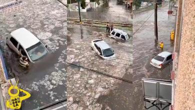 Photo of Mega Granizada En Guadalajara Deja Inundaciones Y Carros Nadando En Plaza Del Sol