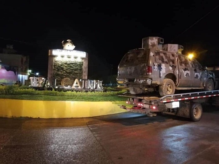 Photo of #Michoacán Decomisan En Combate  Y Presumen Camioneta 'Monstruo'  Del CJNG