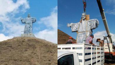Político Pone Cristo Gigante Arriba De Pirámide Prehispánica En Veracruz, INAH No Autorizó