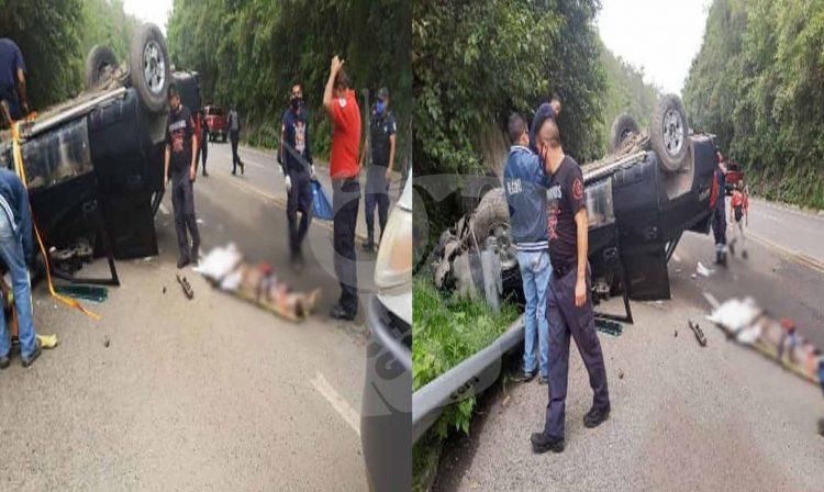 #Michoacán Se Vuelca Su Camioneta Y Muere En Carretera