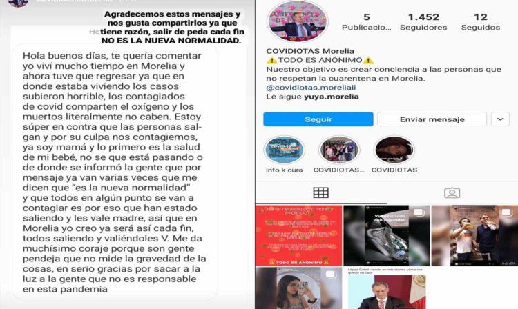 Covidiotas Morelia: La Cuenta De Instagram Para 'Quemar' A Inconscientes