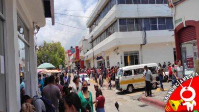 #Denúnciamesta Les vale la sana distancia en cajeros de Zitácuaro