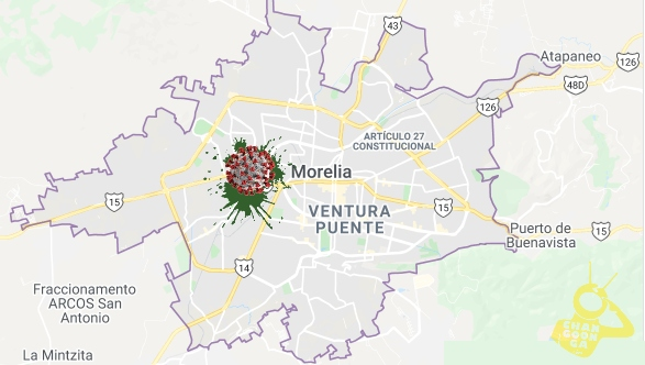 Zona de las colonias de MUY ALTO RIESGO en la capital michoacana