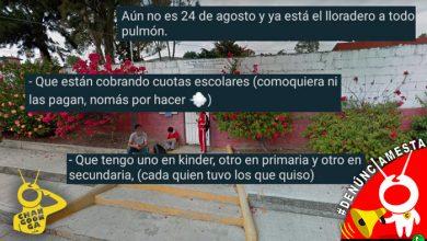 """Photo of #Denúnciamesta """"Ni pagan… Ya está el lloradero"""", así piden cuota en escuela de Morelia"""