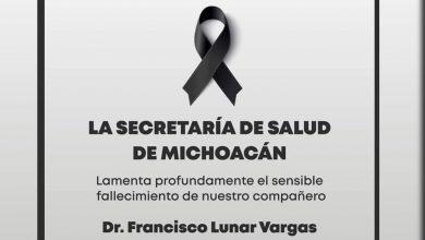 Photo of #Michoacán Fallece Otro Médico En Lucha Contra COVID-19