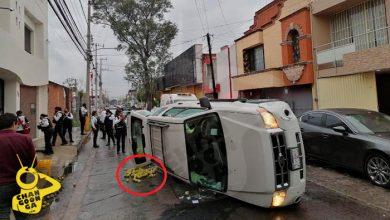 #Morelia Chofer Vuelca En La Chapultepec Sur, Se Le Salen Las Bolas… A La Camioneta