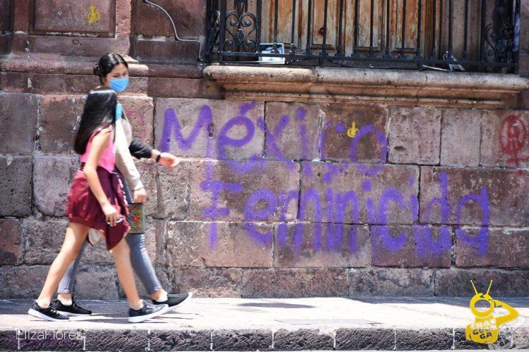 #Morelia Feministas Inconformes Por La Eliminación De Pintas En El Centro