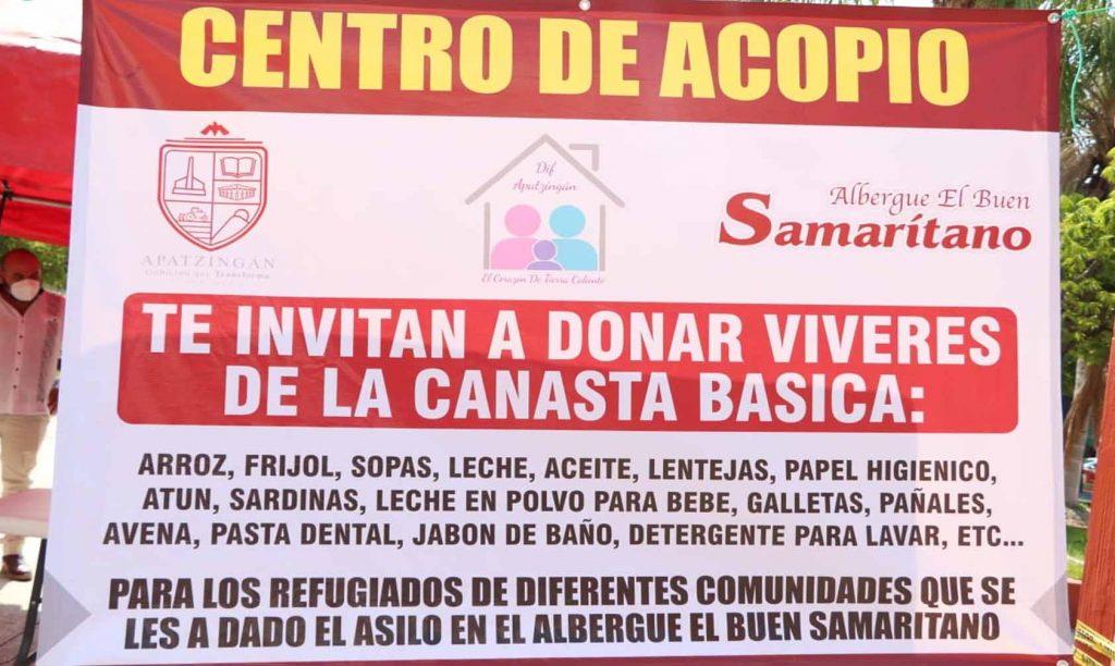 Apatzingán Instala Centro de Acopio Para Desplazados De Aguililla