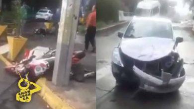 #Video Fuerte Choque Entre Moto Y Auto En La Av. Solidaridad