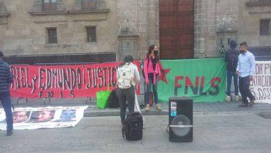 Photo of FNLS Se Manifiesta En CDMX Para Exigir Liberación De  Michoacano Detenido
