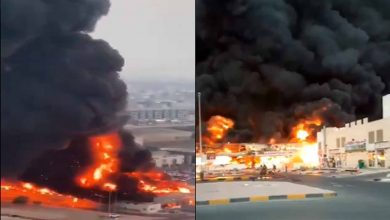 Photo of #Video Reportan Mega Incendio En Mércado De Emiratos Árabes Unidos