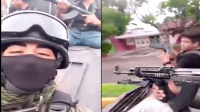 Photo of #Video Sicarios De Los Viagras Se Pasean Con Armas Largas En Michoacán