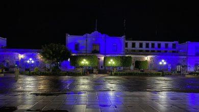 Photo of #Michoacán Iluminan Palacios Municipales De Color Luz Azul Por Lucha Contra La Trata