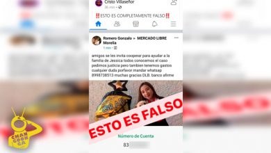 Photo of ¡FALSO! Familia De Jessica No Pide Apoyo Económico En Redes Sociales