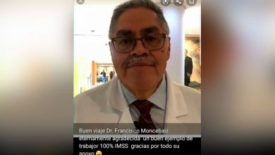 Photo of Familia IMSS Lamenta Fallecimiento Del Dr. Francisco Monsebaiz