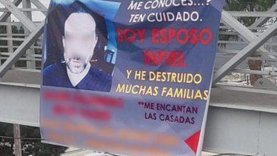 Photo of Pasa En México: Cuelgan Manta Pa Exhibir A Esposo Infiel