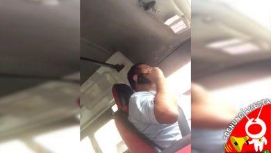 Photo of #Denúnciamesta Moreliano señala a chofer de combi que habla por teléfono mientras maneja