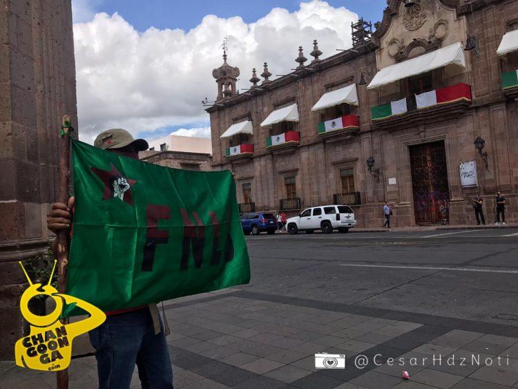 #Morelia FNLS Realiza Mítin Patrio Para Exigir Liberación del Profesor Leobardo