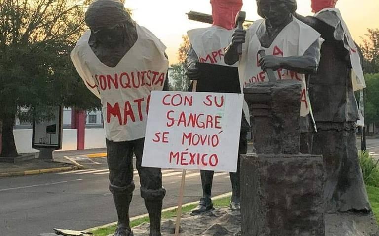 """P'urhepecha En Estados Unidos Se Une A La Exigencia De Quitar Monumento """"A La Opresión"""" En Morelia"""
