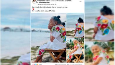 Photo of Reacción De Abuelita De 97 Años Al Ver Mar Por Primera Vez Se Viraliza