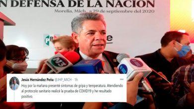 Photo of Da Positivo A Covid-19 Presidente Del PRI En Michoacán