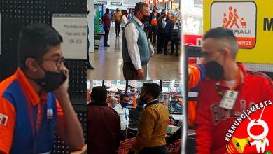 Photo of #Denúnciamesta morelianos señalan que empleados de Chedraui usan el cubrebocas de adorno