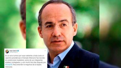 Photo of Por Capricho Presidencial Senador Murió De COVID-19: Felipe Calderón
