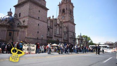 Photo of #Morelia CNTE Poder De Base Y FNLS Se Topan En Palacio De Gobierno