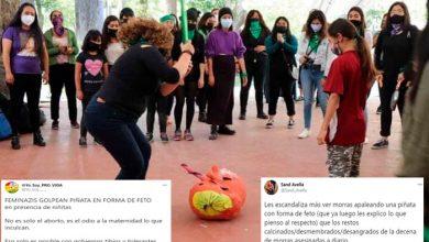 Photo of Pasa En México: Feministas Rompen Piñata De Feto