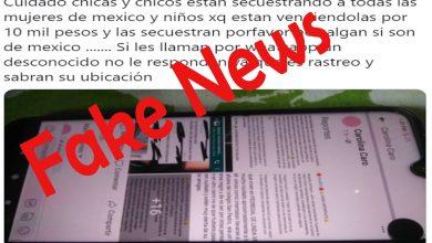 Photo of Pasa En México: Difunden Fake News De Secuestro De Mujeres