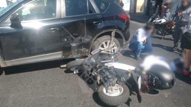 Photo of #Morelia Choque Entre Moto Y Camioneta, Deja A Una Mujer Herida