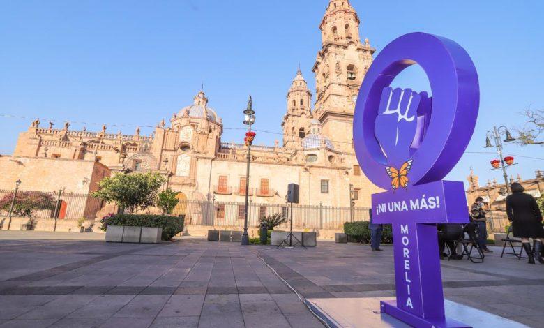 Instalan Monumento A Víctimas De Feminicidios En El Centro De Morelia