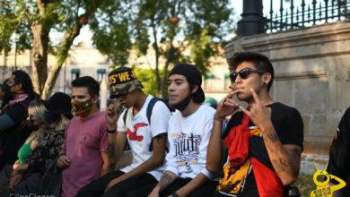 Photo of #Morelia Movimiento Cannabico Protesta Por Detención De Chavos Fumando Mota Ayer En El Centro