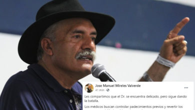 Photo of Reportan Que Mireles Sigue Dándole La Batalla Al COVID -19