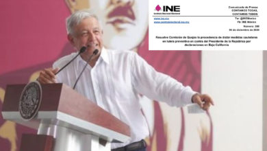 Photo of INE Pide A AMLO No Interferir En Asuntos Electorales
