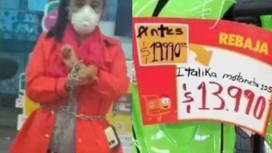 Photo of #WTF Doñita Se Encadena A Moto En Walmart Pa´Que Se La Vendan En 14 Pesitos