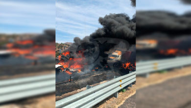 Photo of #Michoacán Tráiler Choca Contra Tres Autos Y Se Incendiaron Sobre Autopista