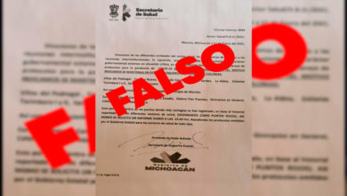 Photo of #Morelia Es FAKE Documento Que Circula Sobre Alertas COVID-19 En Plazas Y Colonias