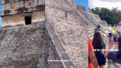Photo of #LadyKukulkán Avienta Cenizas De Su Marido En Pirámide Y La Arrestan