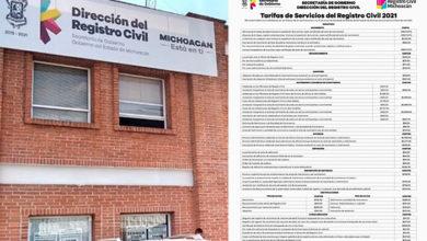 Photo of #Michoacán Aumentan Costos En Registro Civil: Casarte $565 Varos, Divorciarte $2 mil 396 Pesos