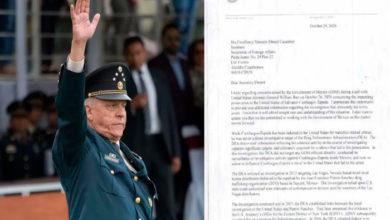 Photo of Luego De Exonerarlo, Revelan Expediente En Contra Del General Cienfuegos
