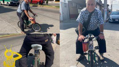 Photo of Abuelito Moreliano Enfrenta La Vida En Su Bici Ante Una Discapacidad