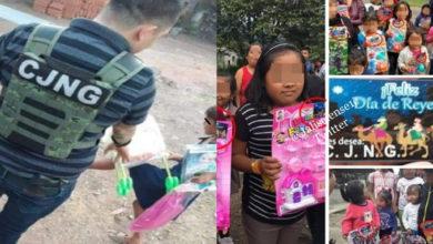 Photo of #Michoacán Reyes Narcos Del CJNG Presumen Entrega De Juguetes A Niños