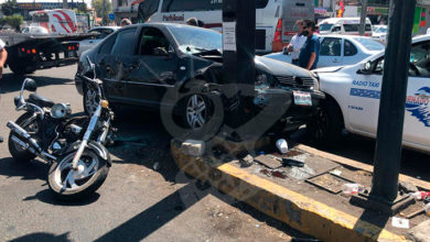 Photo of #Morelia Automóvil Embiste A Motociclista; Hay Dos Heridos