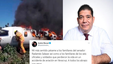 Photo of AMLO Envía Su Pésame A Familias De Militares Fallecidos En Accidente Aéreo Y Senador