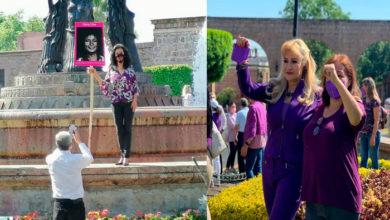 Photo of #Morelia María Orteaga, Esposa De Cristóbal Arias Se Reune Con Feministas; Él Les Toma Fotos