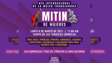 Photo of Feministas Alistan Mitin De Mujeres Este Lunes En Fuente De Las Tarascas
